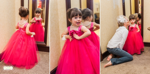 flower girl in Oakland County wedding