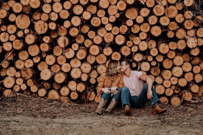 northern michigan engagement session