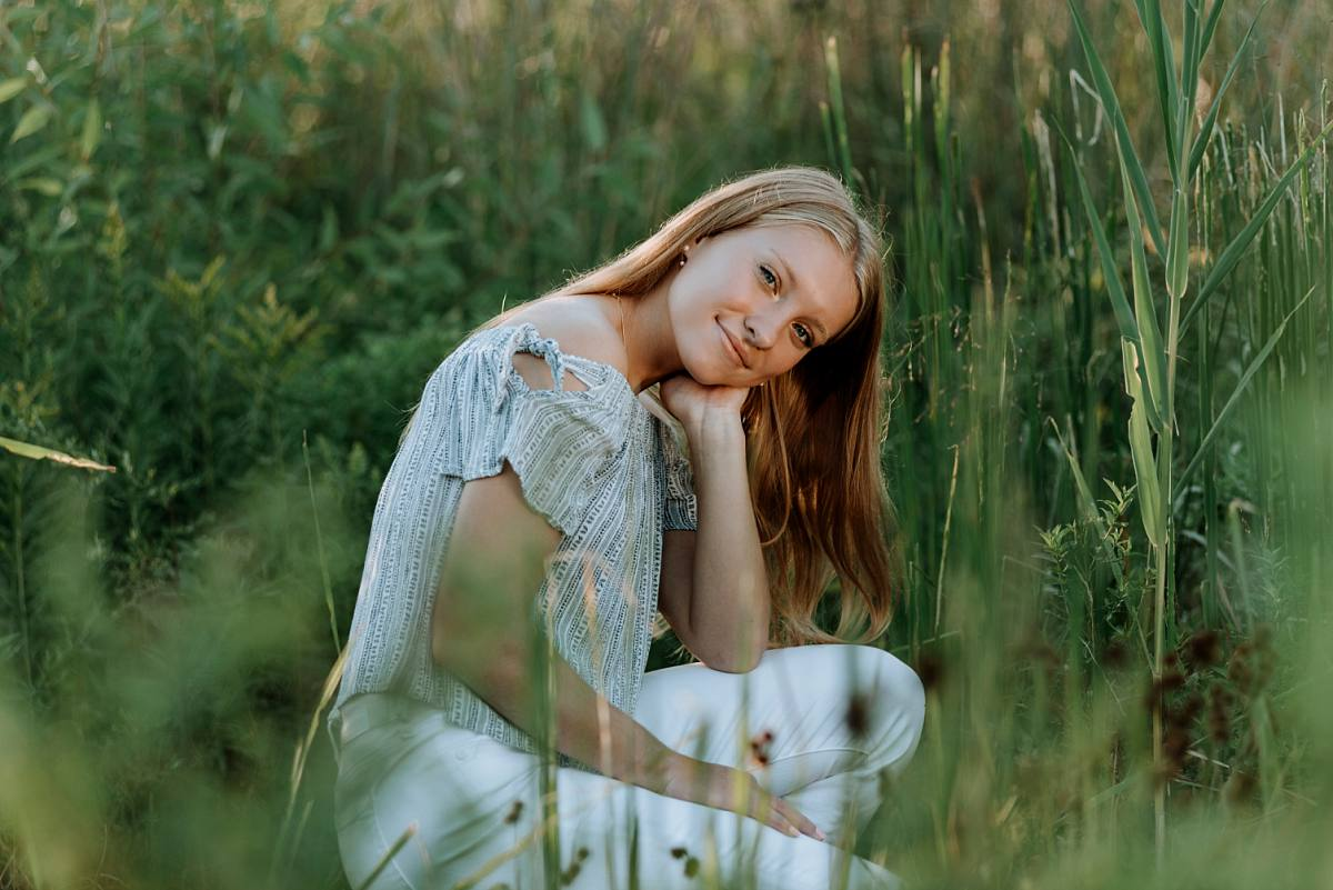 senior student from Waterford Mott in tall grasses location